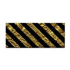 Stripes3 Black Marble & Gold Foil (r) Cosmetic Storage Cases