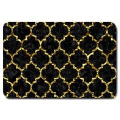 Tile1 Black Marble & Gold Foil Large Doormat