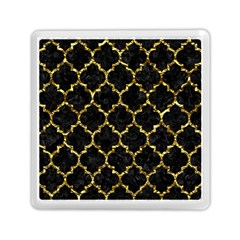 Tile1 Black Marble & Gold Foil Memory Card Reader (square)