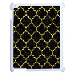 Tile1 Black Marble & Gold Foil Apple Ipad 2 Case (white)