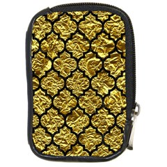 Tile1 Black Marble & Gold Foil (r) Compact Camera Cases