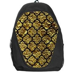 Tile1 Black Marble & Gold Foil (r) Backpack Bag