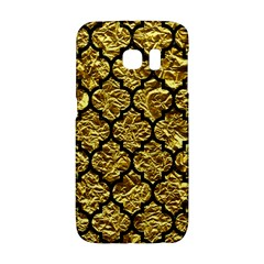 Tile1 Black Marble & Gold Foil (r) Galaxy S6 Edge