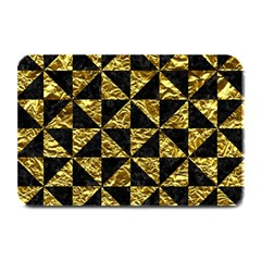Triangle1 Black Marble & Gold Foil Plate Mats