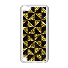 Triangle1 Black Marble & Gold Foil Apple Ipod Touch 5 Case (white)