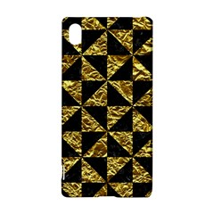 Triangle1 Black Marble & Gold Foil Sony Xperia Z3+