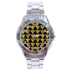 Triangle2 Black Marble & Gold Foil Stainless Steel Analogue Watch