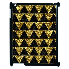Triangle2 Black Marble & Gold Foil Apple Ipad 2 Case (black)