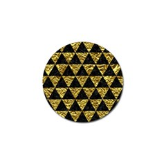 Triangle3 Black Marble & Gold Foil Golf Ball Marker (4 Pack)