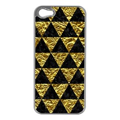 Triangle3 Black Marble & Gold Foil Apple Iphone 5 Case (silver)