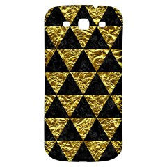 Triangle3 Black Marble & Gold Foil Samsung Galaxy S3 S Iii Classic Hardshell Back Case