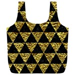 TRIANGLE3 BLACK MARBLE & GOLD FOIL Full Print Recycle Bags (L)  Front