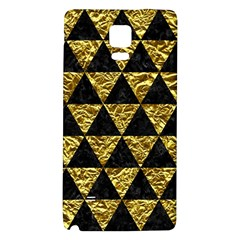 Triangle3 Black Marble & Gold Foil Galaxy Note 4 Back Case