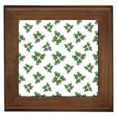 Nature Motif Pattern Design Framed Tiles