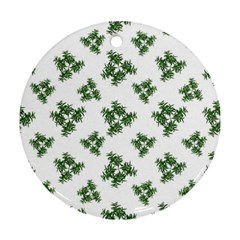 Nature Motif Pattern Design Ornament (round)
