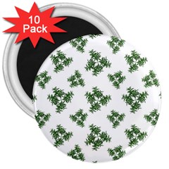 Nature Motif Pattern Design 3  Magnets (10 Pack)