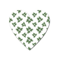 Nature Motif Pattern Design Heart Magnet