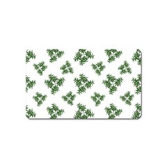 Nature Motif Pattern Design Magnet (name Card)