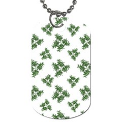 Nature Motif Pattern Design Dog Tag (one Side)