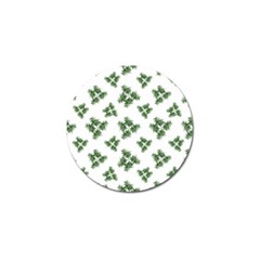 Nature Motif Pattern Design Golf Ball Marker (4 Pack)