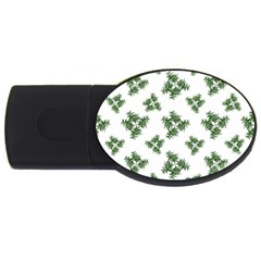 Nature Motif Pattern Design Usb Flash Drive Oval (2 Gb)
