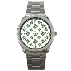 Nature Motif Pattern Design Sport Metal Watch