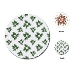 Nature Motif Pattern Design Playing Cards (round)