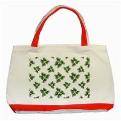 Nature Motif Pattern Design Classic Tote Bag (red)