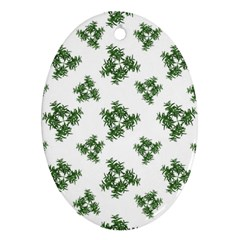 Nature Motif Pattern Design Oval Ornament (two Sides)