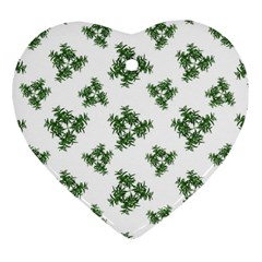 Nature Motif Pattern Design Heart Ornament (two Sides)