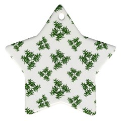 Nature Motif Pattern Design Star Ornament (two Sides)