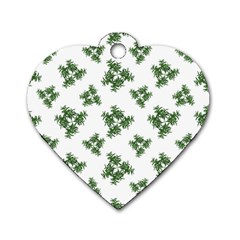 Nature Motif Pattern Design Dog Tag Heart (two Sides)