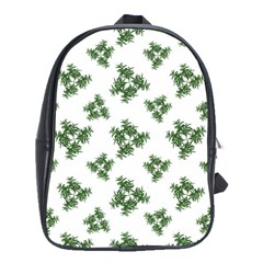 Nature Motif Pattern Design School Bag (large)