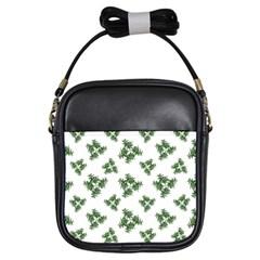 Nature Motif Pattern Design Girls Sling Bags