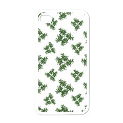 Nature Motif Pattern Design Apple Iphone 4 Case (white)