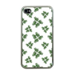 Nature Motif Pattern Design Apple Iphone 4 Case (clear)
