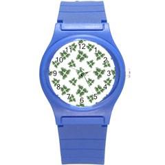 Nature Motif Pattern Design Round Plastic Sport Watch (s)