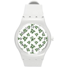 Nature Motif Pattern Design Round Plastic Sport Watch (m)