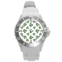 Nature Motif Pattern Design Round Plastic Sport Watch (l)