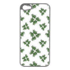 Nature Motif Pattern Design Apple Iphone 5 Case (silver)
