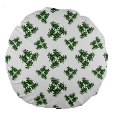 Nature Motif Pattern Design Large 18  Premium Round Cushions
