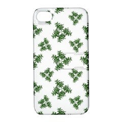 Nature Motif Pattern Design Apple Iphone 4/4s Hardshell Case With Stand