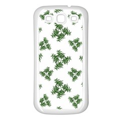 Nature Motif Pattern Design Samsung Galaxy S3 Back Case (white)