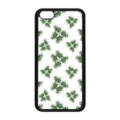 Nature Motif Pattern Design Apple Iphone 5c Seamless Case (black)