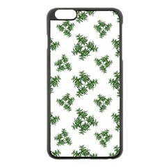 Nature Motif Pattern Design Apple Iphone 6 Plus/6s Plus Black Enamel Case