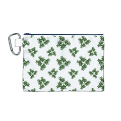 Nature Motif Pattern Design Canvas Cosmetic Bag (m)