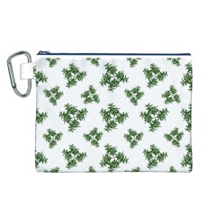 Nature Motif Pattern Design Canvas Cosmetic Bag (l)