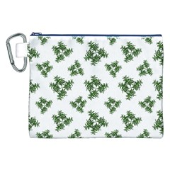 Nature Motif Pattern Design Canvas Cosmetic Bag (xxl)