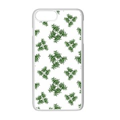 Nature Motif Pattern Design Apple Iphone 7 Plus White Seamless Case