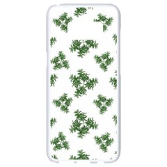 Nature Motif Pattern Design Samsung Galaxy S8 White Seamless Case